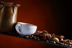 Coffee with spices. Stock Images