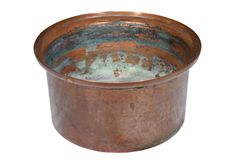 Old copper container Stock Photo