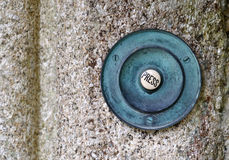 Old copper door bell Stock Photo