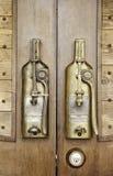 Old copper door handle Royalty Free Stock Images