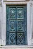 Old copper door. In Venice Italy royalty free stock image