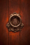 Old copper doorhandle Royalty Free Stock Photography