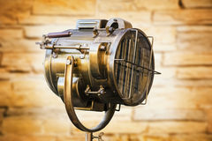 Old Copper Floodlight Stock Image