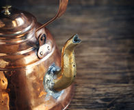 Old copper kettle Royalty Free Stock Photos