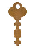 Old copper key. Royalty Free Stock Photos