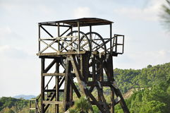 Old copper mine shaft, Riotinto Royalty Free Stock Images