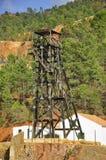 Old copper mine shaft, Riotinto Stock Photos