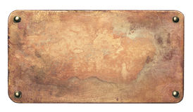 Old copper plate background Stock Image