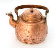 Old copper tea-pot. Royalty Free Stock Image