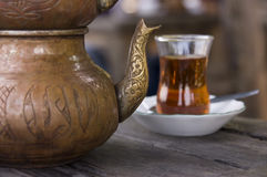 Turkish national cuisine: tea Stock Images