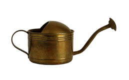 Old copper watering can Royalty Free Stock Image