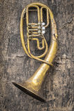 Old copper wind instrument Stock Photo