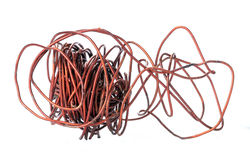 Old copper wire recyclable materials Stock Images