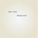 Old copy book paper. Vector Illustration. Old copy book paper background. Vector Illustration Stock Image
