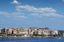 Old Corfu town buildings Royalty Free Stock Images