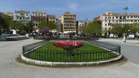 Old Corfu town cityscape, Greece. The historic center of Kerkyra town, Greece.  stock video footage