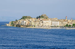 Old Corfu town with the Venetian Old Fortress in Greece Stock Photography
