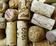 Old Corks. Closeop of old, used corks royalty free stock image