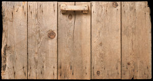 Old Corn Crib Door. Isolated on black stock images