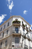 Old corner apartment. S with balcony, Antibe, France stock image