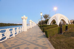 The old corniche in Abu Dhabi Royalty Free Stock Images