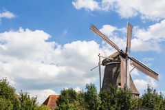 Old Cornmill in Hasselt Holland Stock Photography
