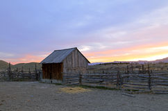 Old Corral and barn. Stock Photo