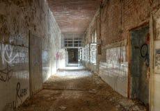 Old corridor of health resorts in Beelitz Royalty Free Stock Images