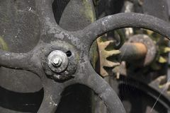 Old and corroded metal at a junkyard Stock Photo