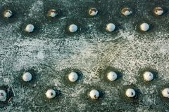 Old rusted metal rivets. Old corroded rusty metal girder Stock Photos