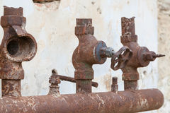 Old corroded water pipe Stock Photography