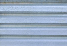 Old corrugated aluminium Stock Images