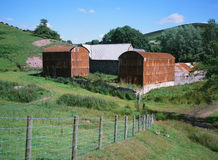 Old Corrugated-iron Farm Buildings in England Royalty Free Stock Images