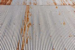 Old corrugated metal roof. Royalty Free Stock Photography