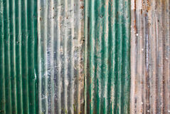 Old corrugated metal wall Royalty Free Stock Photos
