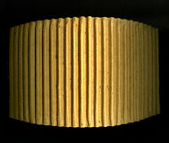 Old corrugated paper board. In a ring Royalty Free Stock Images
