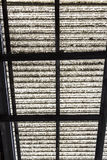 Old corrugated polycarbonate roof with rusty construction Royalty Free Stock Photos