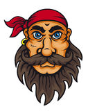 Old corsair. In cartoon style for mascot or fairytale design Royalty Free Stock Images