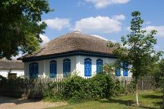 Old Cossack house. Cossack house hut in Veshenskaya Royalty Free Stock Images