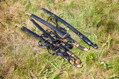 The old Cossack sabers lying on the grass Royalty Free Stock Image