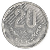 20 old costa rican colones coin Royalty Free Stock Photography