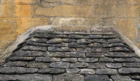 Old Cotswold Stone Exterior Royalty Free Stock Photography