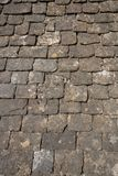 Old Cotswold stone roof tiles full frame background royalty free stock photos