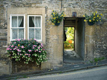 Old Cottage. Old stone cottage on a hill Stock Photography