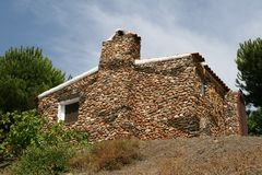 Characteristic natural cottage in Andalusia, Spain Stock Photography