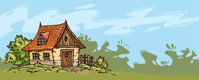 Old Cottage Background Royalty Free Stock Photography