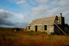 Old cottage being restored, South Uist Stock Image