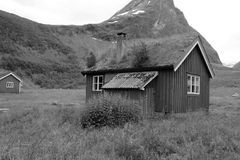 Old cottage. On a old farm in Geiranger Stock Image