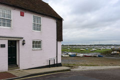 Old cottage and low tide at Emsworth, Hampshire Stock Images