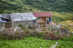 Old cottage in a mountain Stock Image